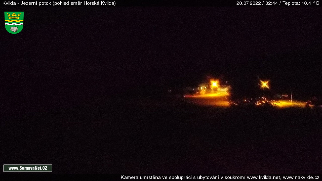 Webkamera Kvilda - Jezerní potok